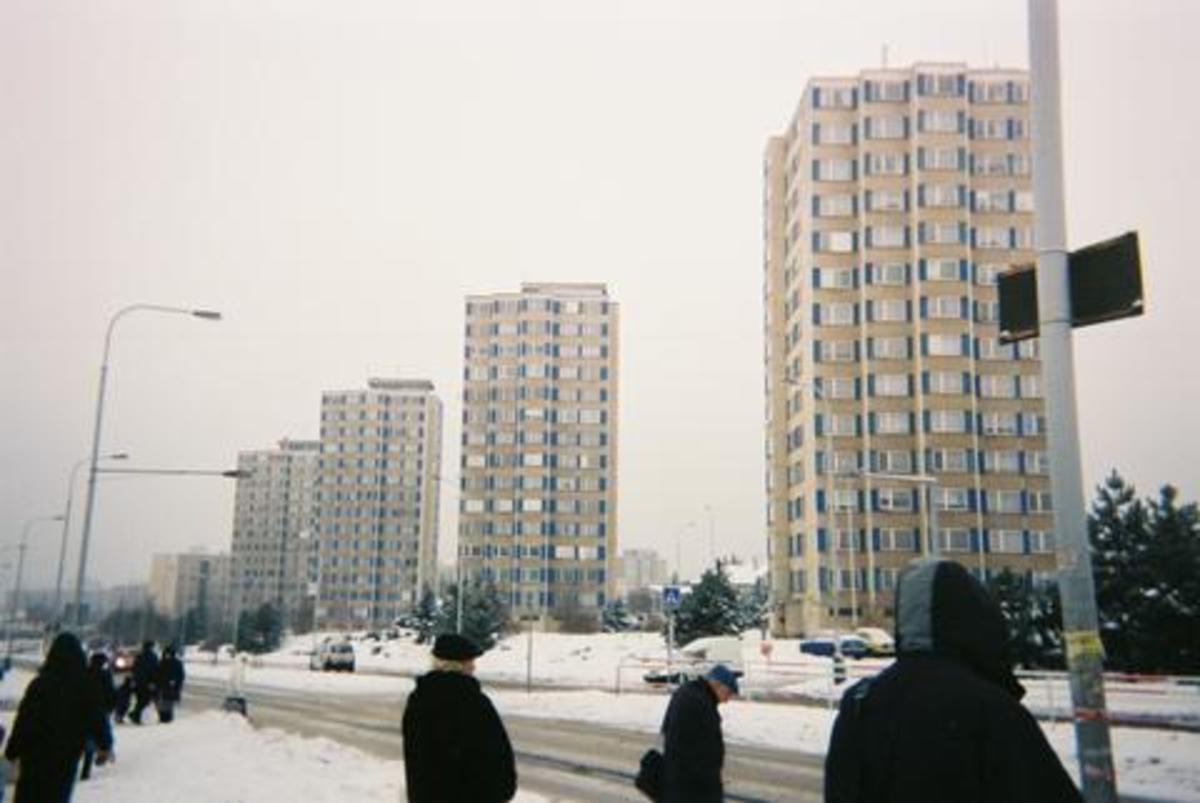 Some typical East European housing estates.