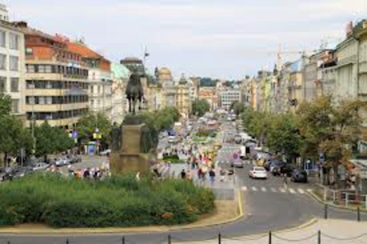 The centre of Prague.