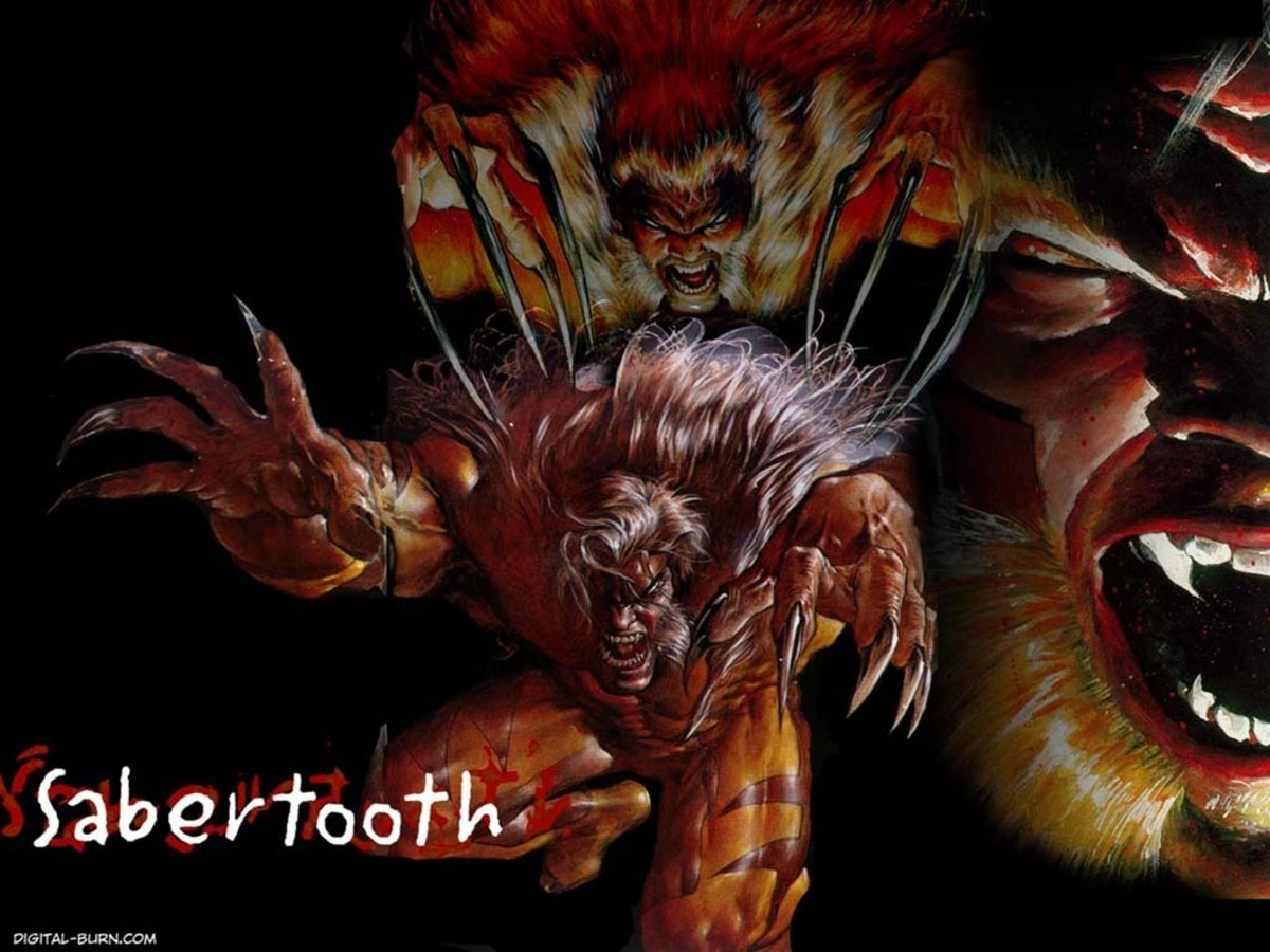 Sabretooth - immensely strong