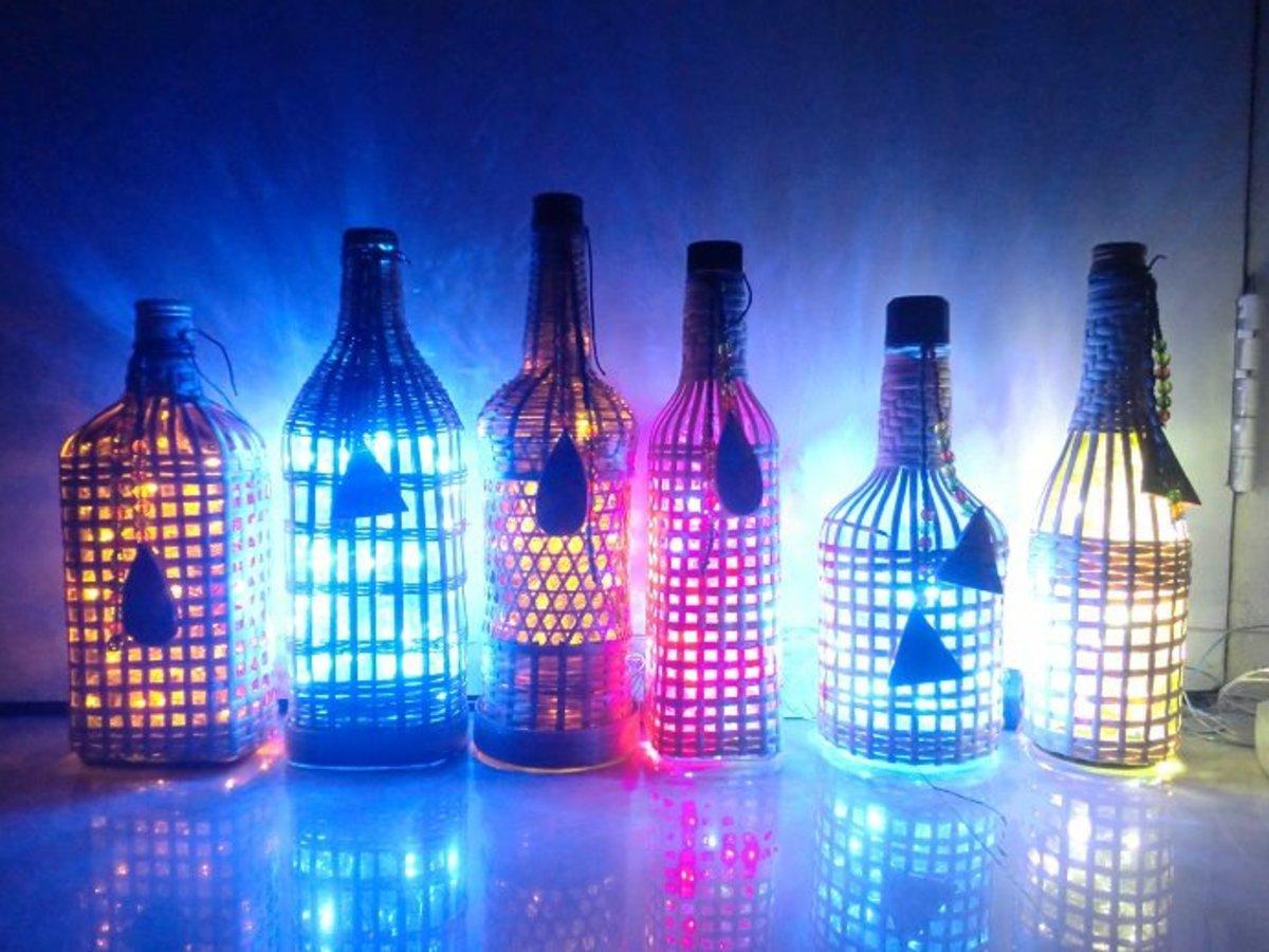 Wine Bottle Lamps Diy Tutorial Hubpages