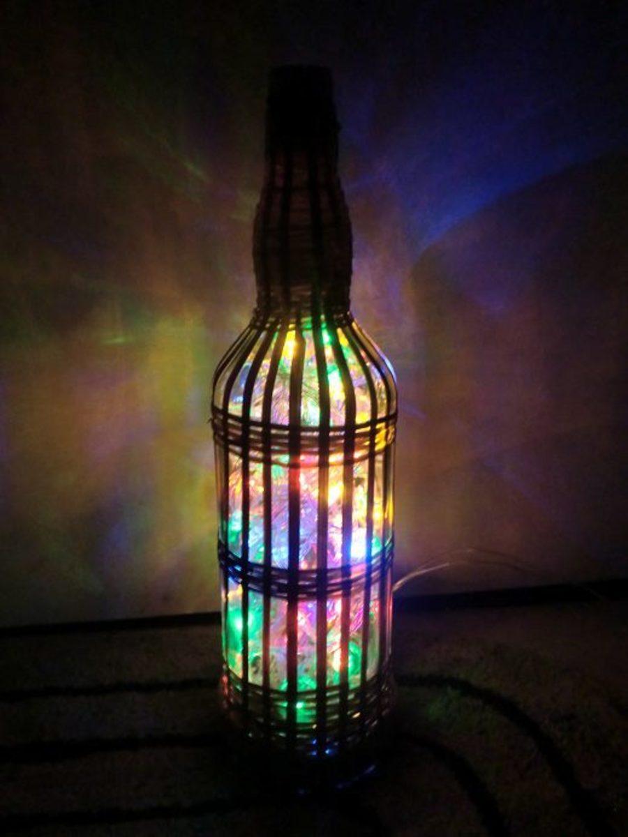 Multicoloured LED String lamp bottle-lamp