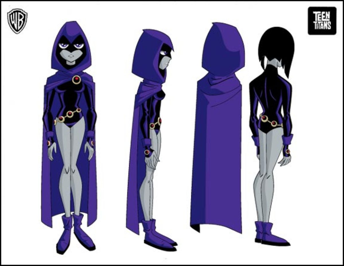 Her cartoon costume is simple but completely different from everything before.