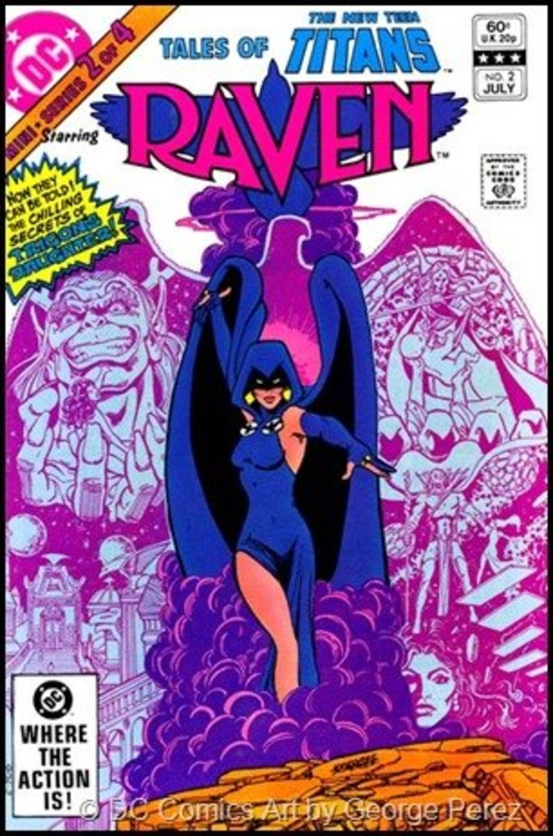 Raven's first costume looked more like a classic dress.