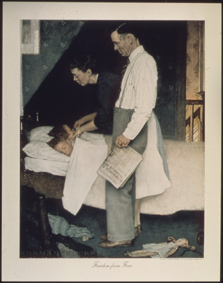 'Freedom from Fear' by Norman Rockwell (1943)
