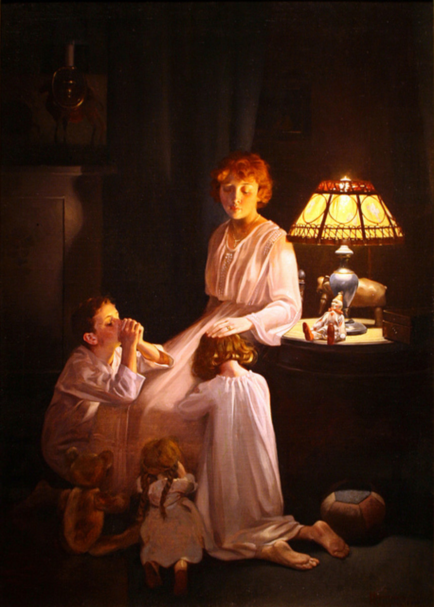 'The Stuff of Which Memories Are Made' by Norman Rockwell (circa 1920)