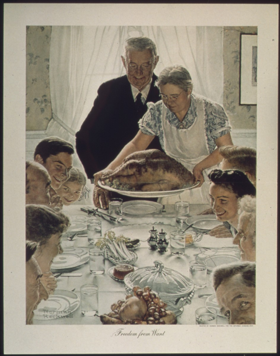 'Freedom from Want' by Norman Rockwell (1943)
