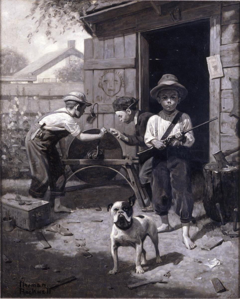 Slim Finnegan, by Norman Rockwell (circa 1916)