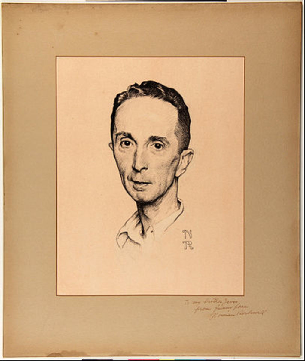 'Self-Portrait' by Norman Rockwell (circa 1920)