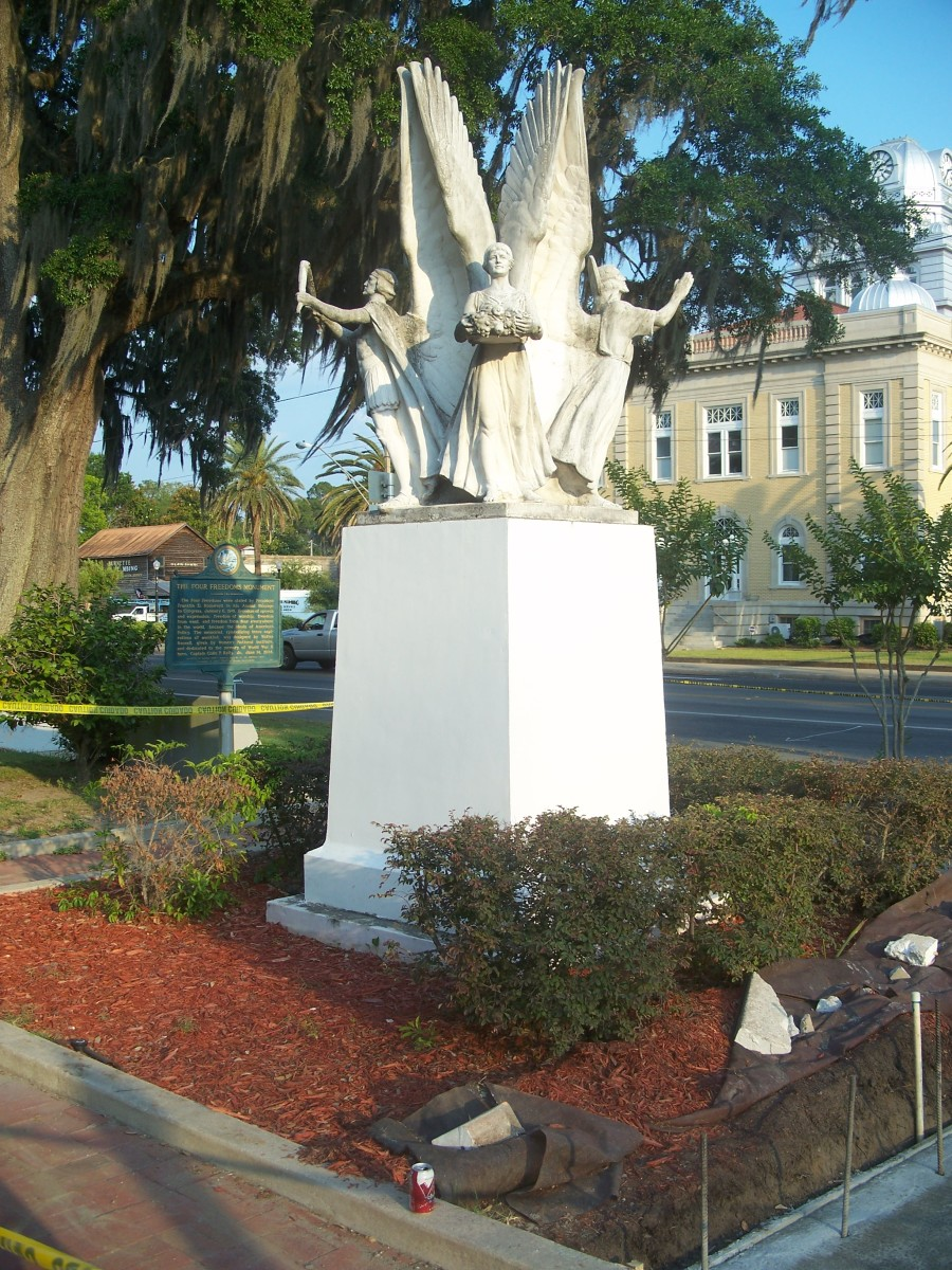 Madison, Florida: Four Freedoms Monument, inspired by a speech by Franklin D. Roosevelt in 1941. (2011 May 24)
