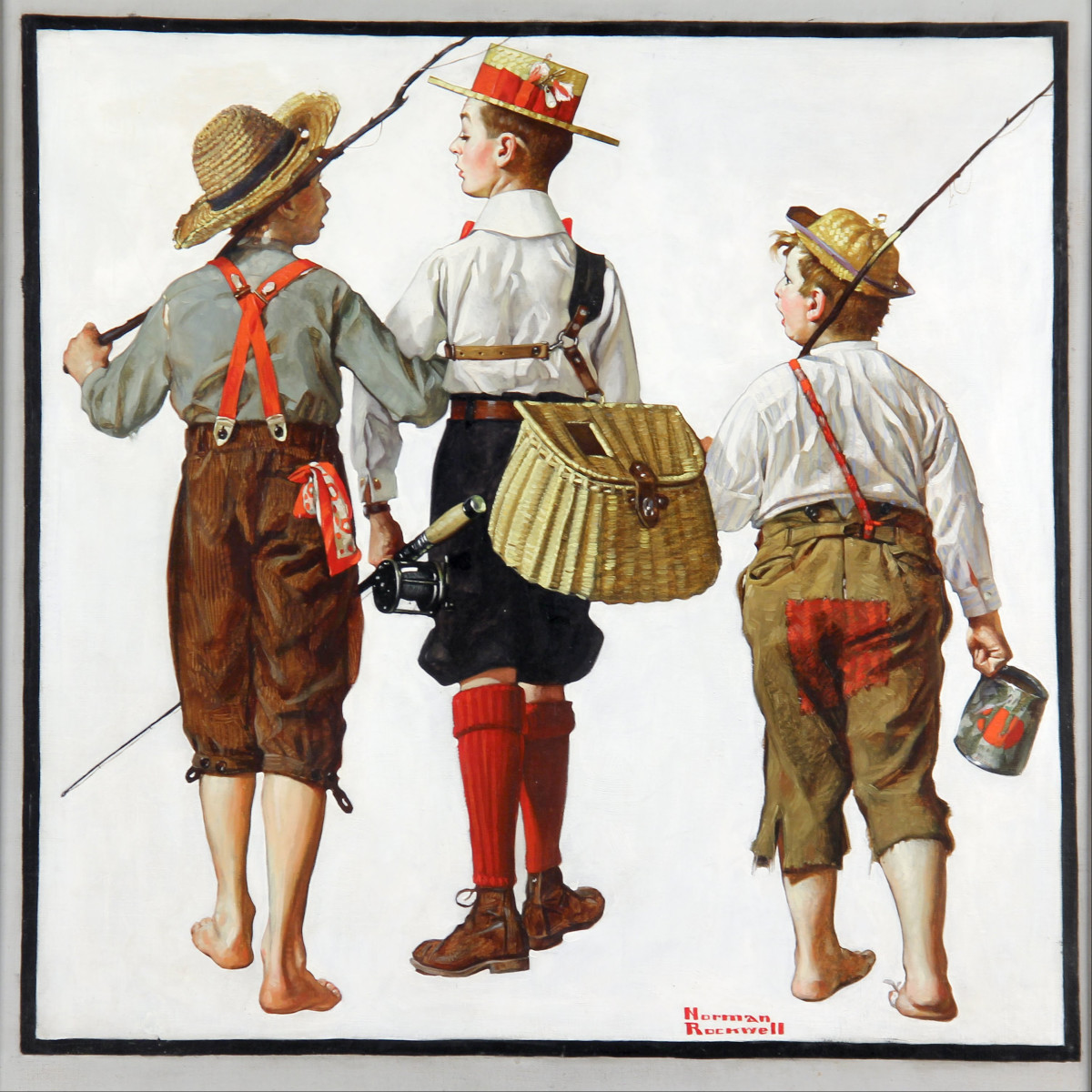 'Fishing Trip, They'll be Coming Back Next Week' by Norman Rockwell (by 1919)