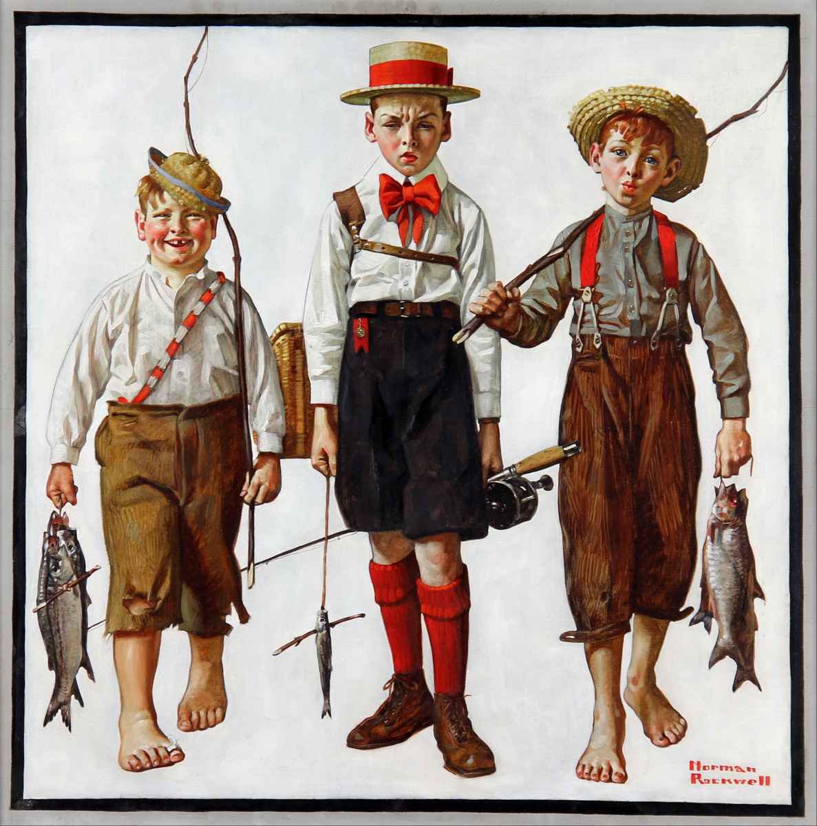 'The Catch' by Norman Rockwell (circa 1919)