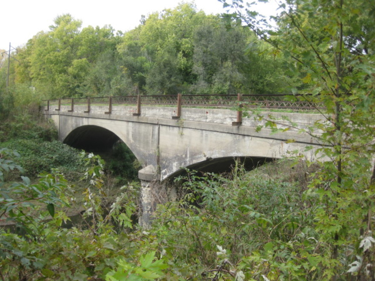 Main Street Bridge looking North third arch obscured Mosby, MO
