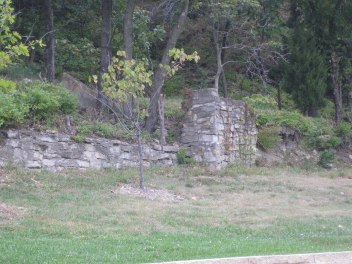Hand Laid Rock Retaining wall, at this point the trail is above the wall