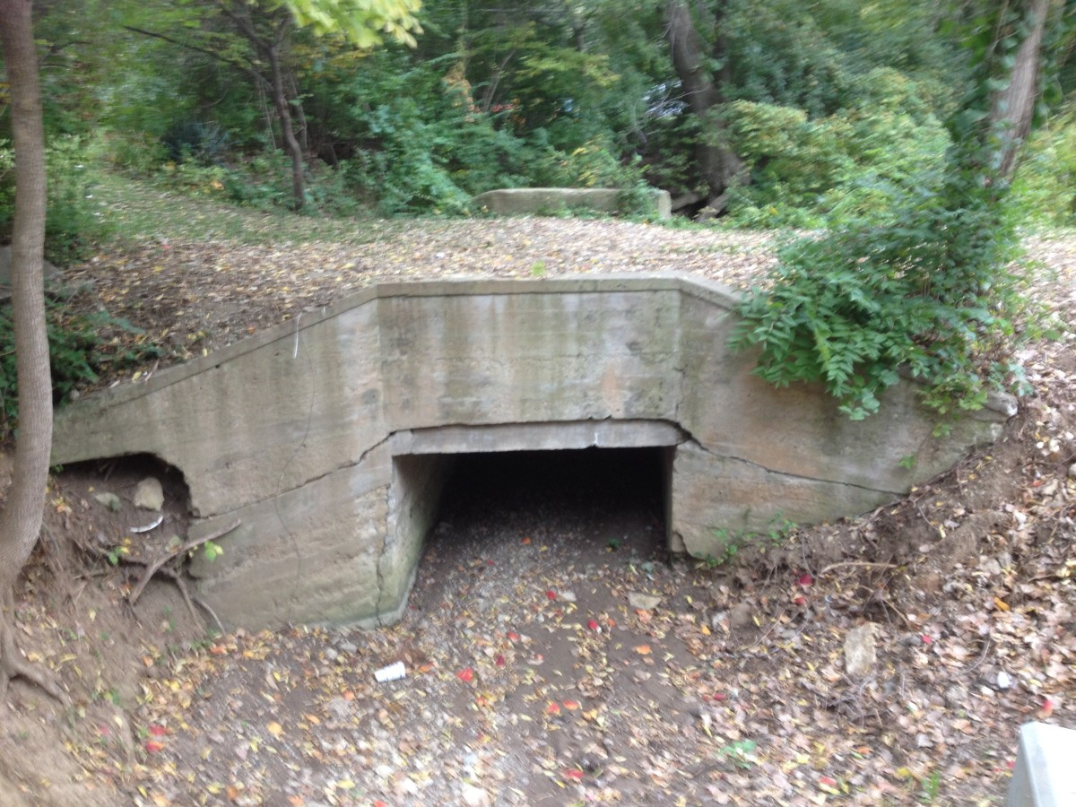 Concrete Box Culvert beside Waukomis Rd .1 mile South of 68th