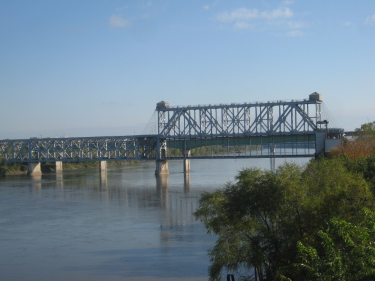 """ASB Bridge looking East from """"Town of Kansa"""""""