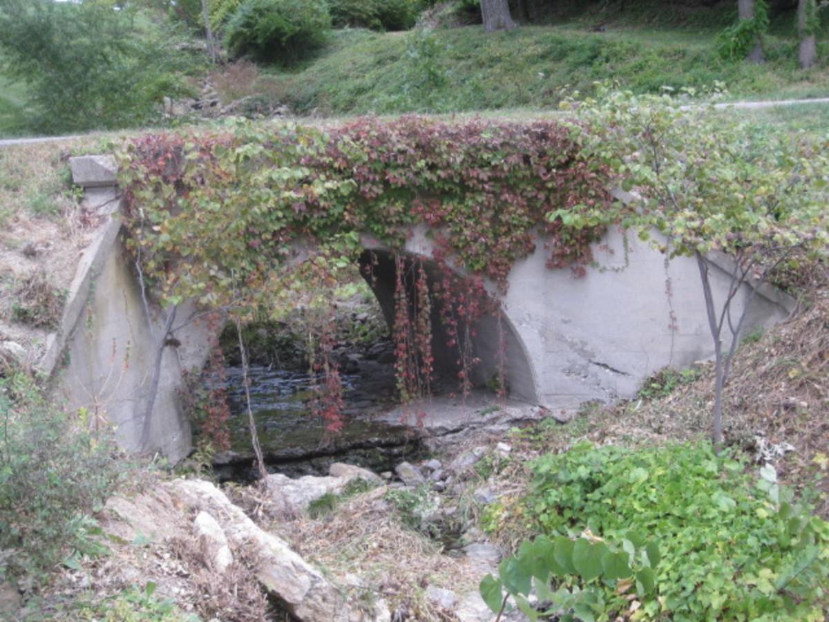 Single Arch Concrete Bridge HWY 9/NW Platte Rd Trail