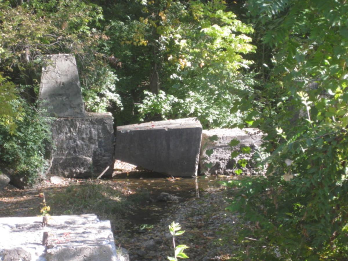 Avondale Trestle Footings in Rock Creek