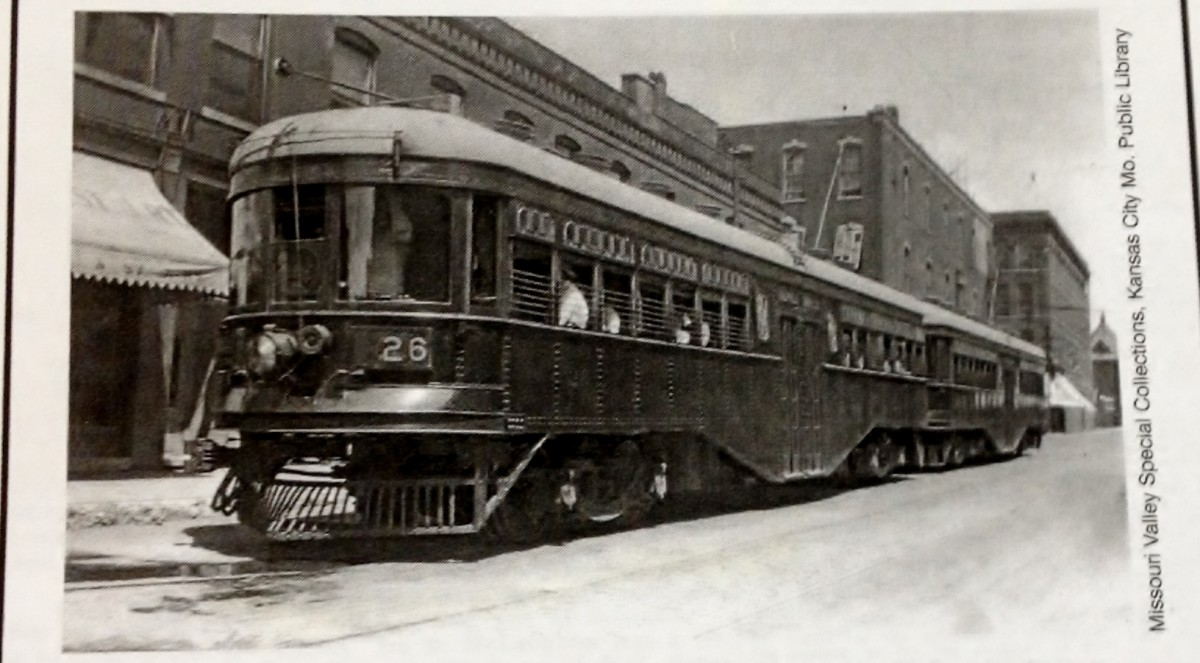 The peak Interurban double car Electric Passenger Car.