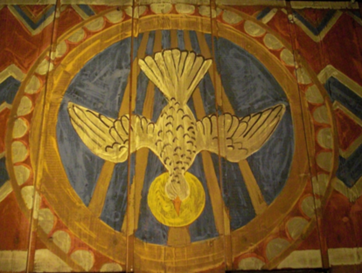 Holy Spirit depicted as a dove in Christian art