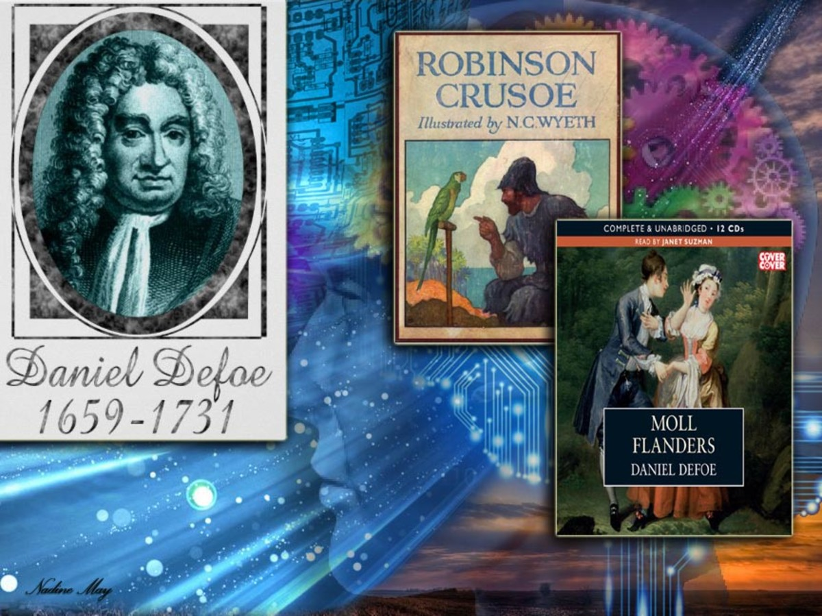 The first English language novelist Daniel Defoe