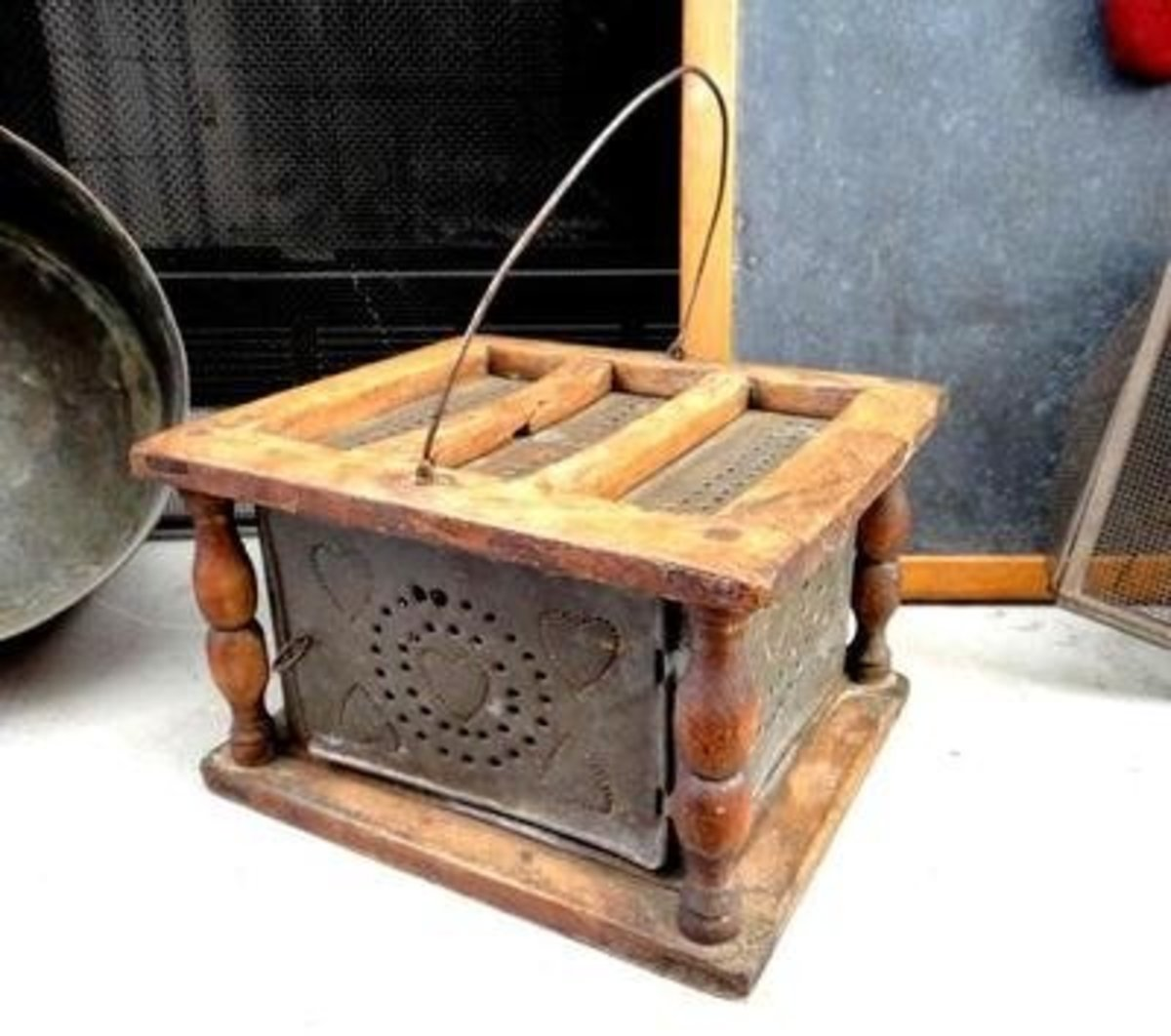 Another style of antique foot-warmer