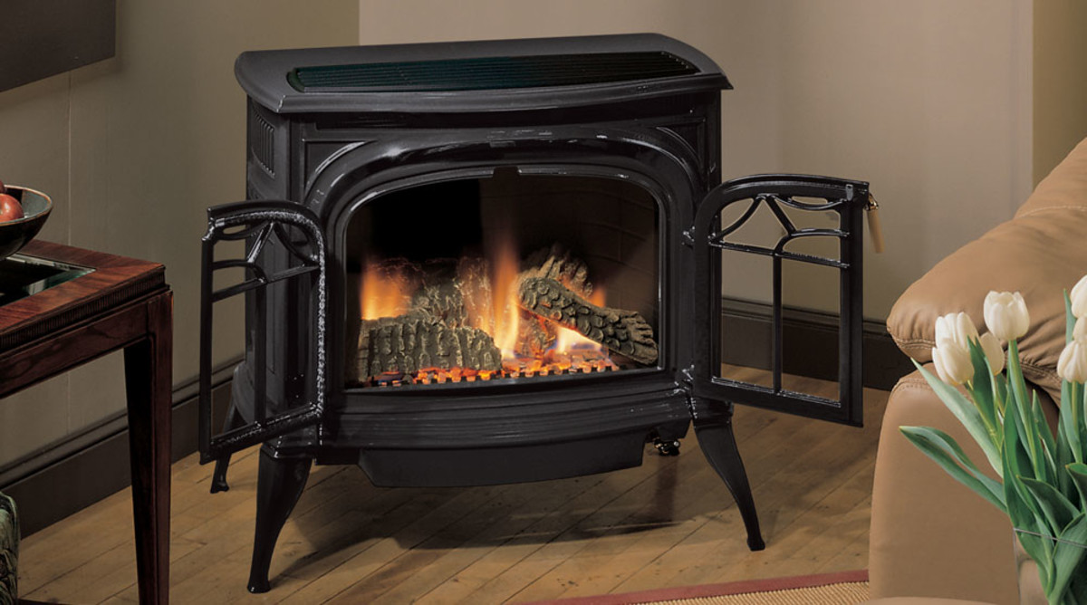 Vent-free gas stove