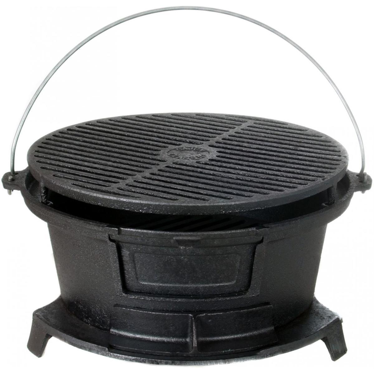 Cast-iron hibachi grill