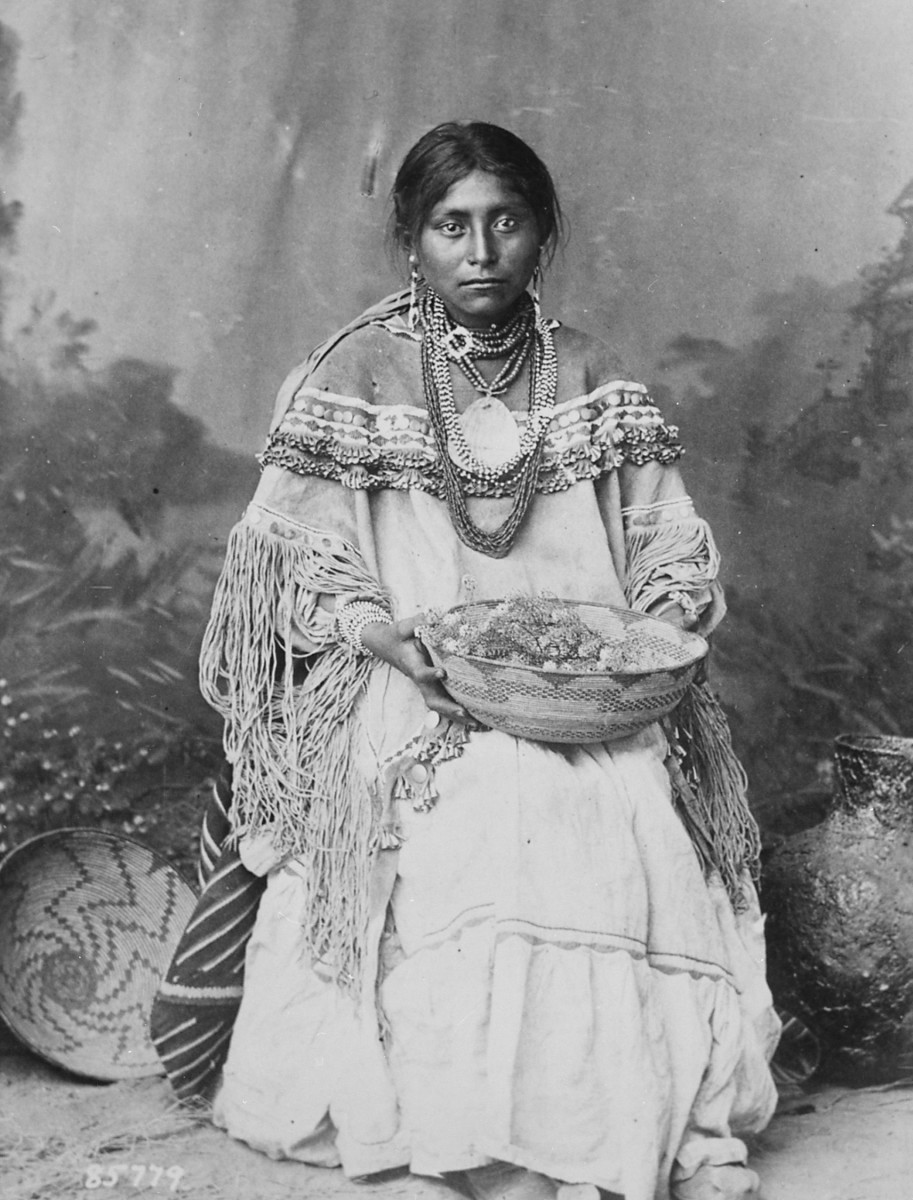 An Apache maiden was well educated in the role of woman and traditions of her ancestors by the time she became a bride.