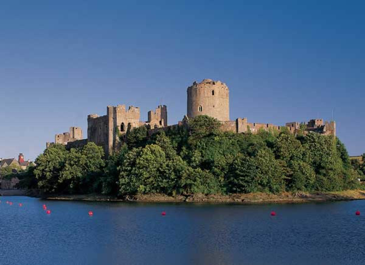 Pembroke Castle in south-western Wales. Norsemen had already settled parts of the area, now their distant cousins the Normans tried to bludgeon the Welsh into submission as they soon would in Ireland