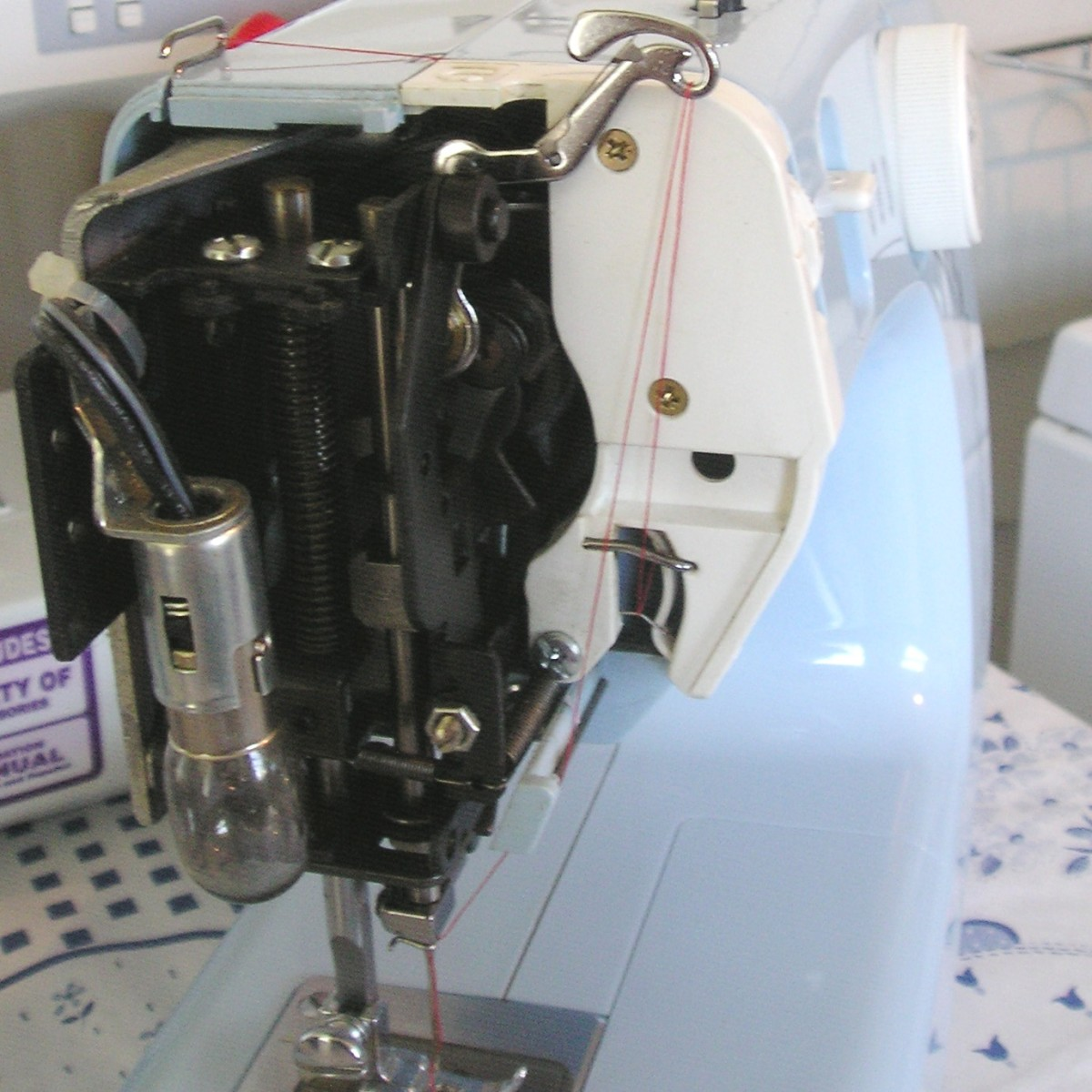 oiling a sewing machine