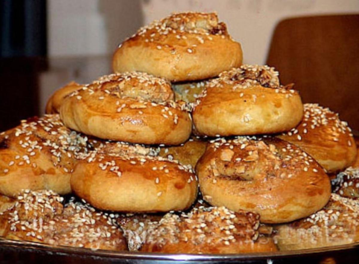 Armenian Recipe  - Tahini ROLLS - Tahini Bread