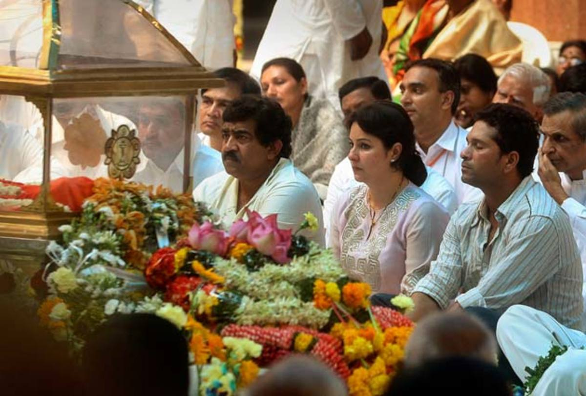 In communion with his Guru at Baba's mortal remains on 25th April 2011.