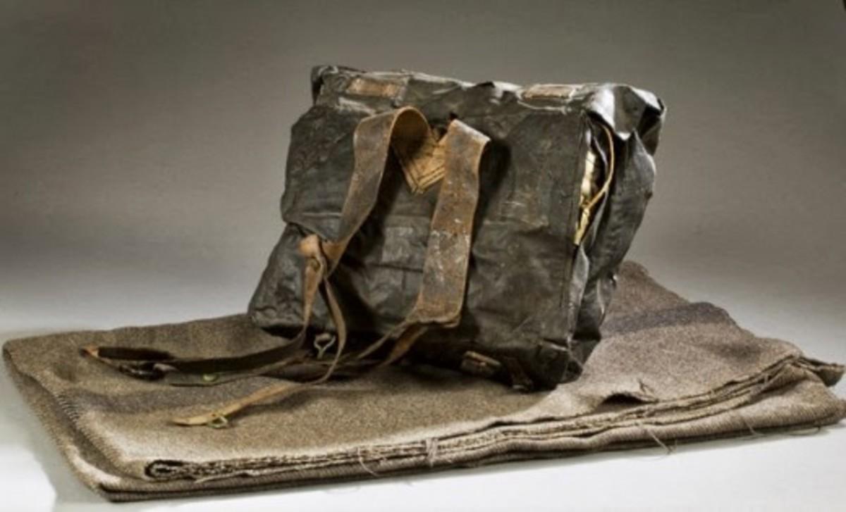 Fig. 23: Knapsack, on top of a wool Blanket