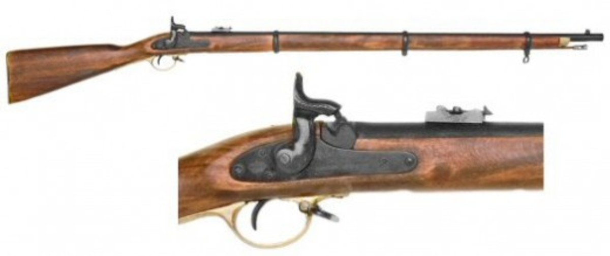 Fig. 24: Musket, with close-up of the Hammer, Cone, and Trigger