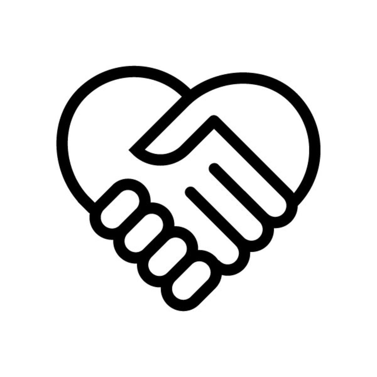 Trust Heart Handshake