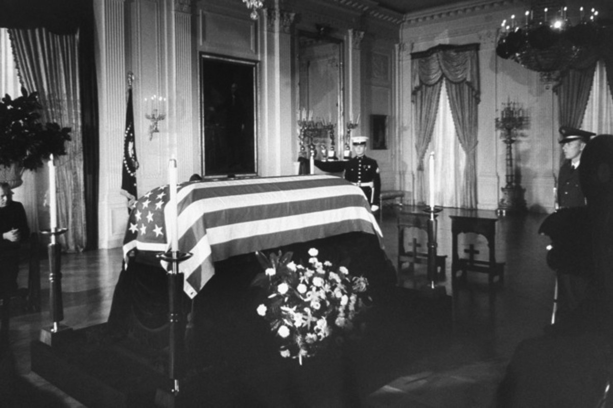 President Kennedy's body lying in state. November 1963.