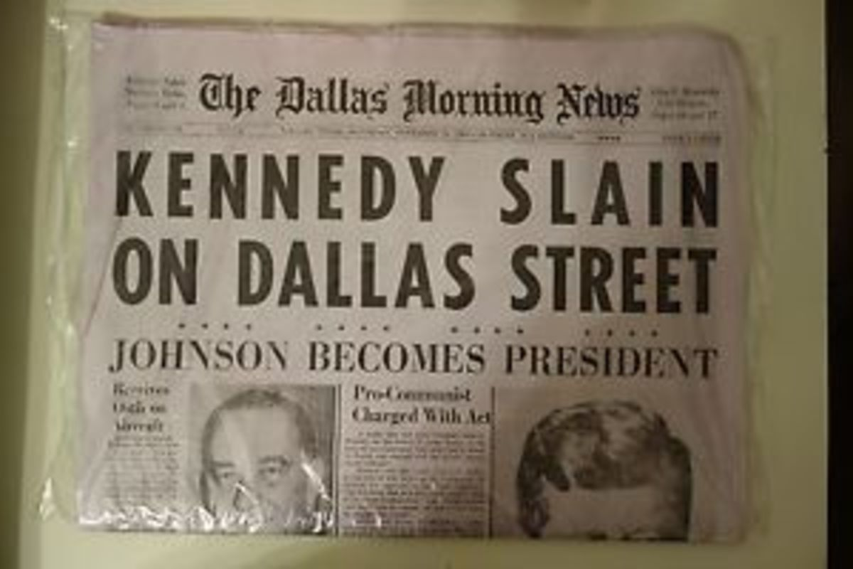 Front Page of The Dallas Morning News