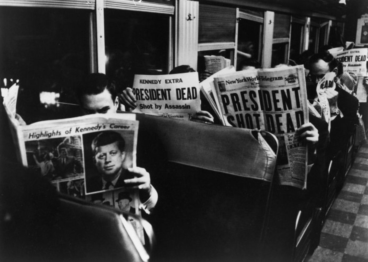 Reading the paper on the way home from work. Where were you November 22, 1963?