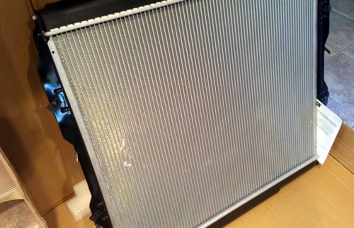 Brand new radiator ready to go ... I used a Denso part# 221-0518.  Quality and fit was good.