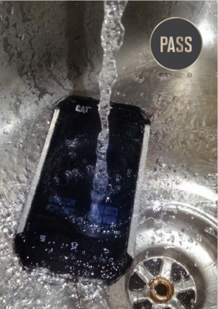CAT B15 under tap water