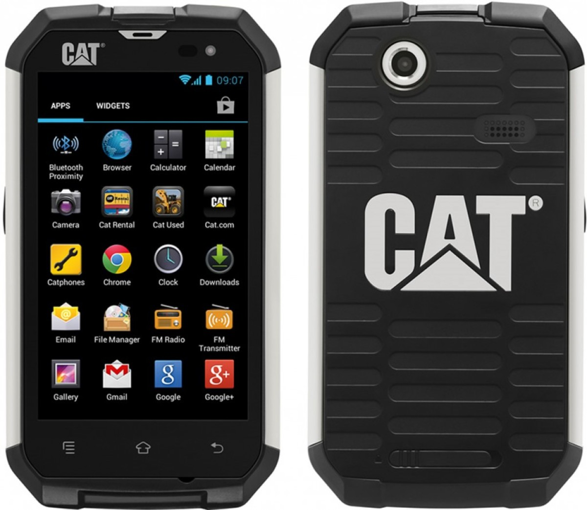 CAT B15 Front and Back