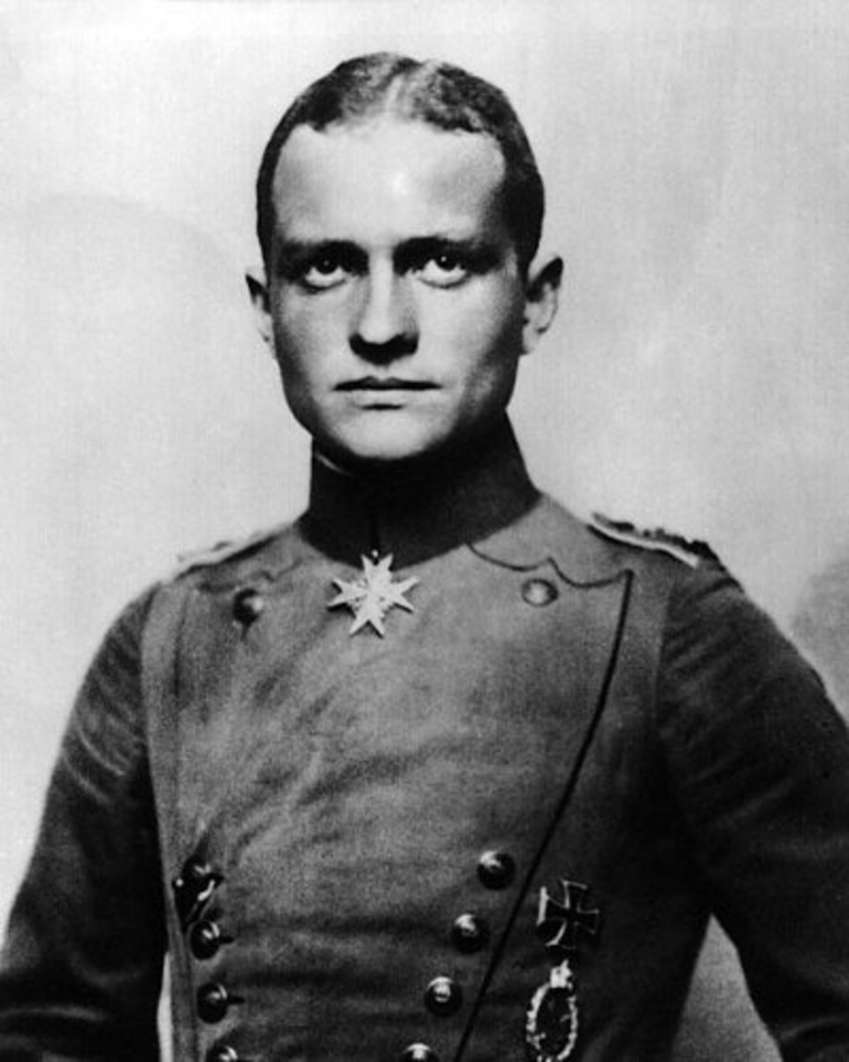 Manfred von Richthofen seen here with his Pour le Merit award.