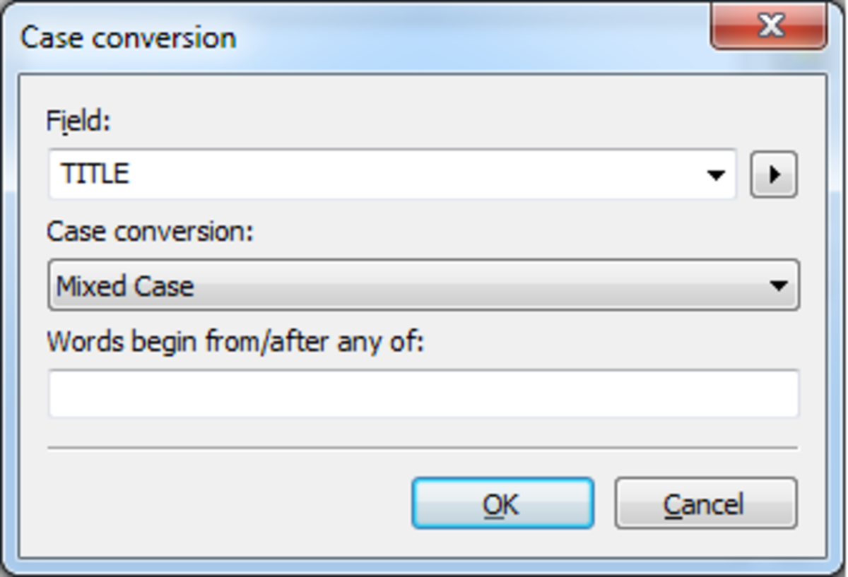 A Case Conversion rule or action created using MP3Tag to convert tags to mixed case.