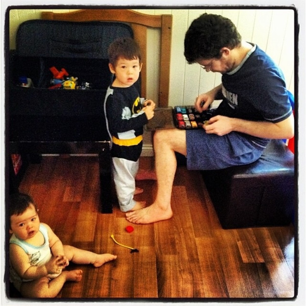 Daniel with Radane and Cahlia