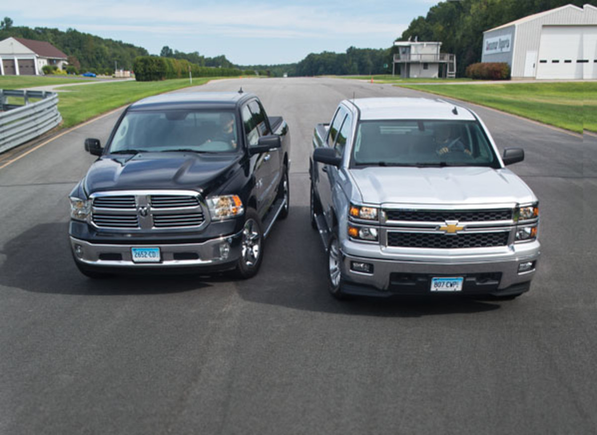 Dodge Ram on left - Chevy Silverado on right