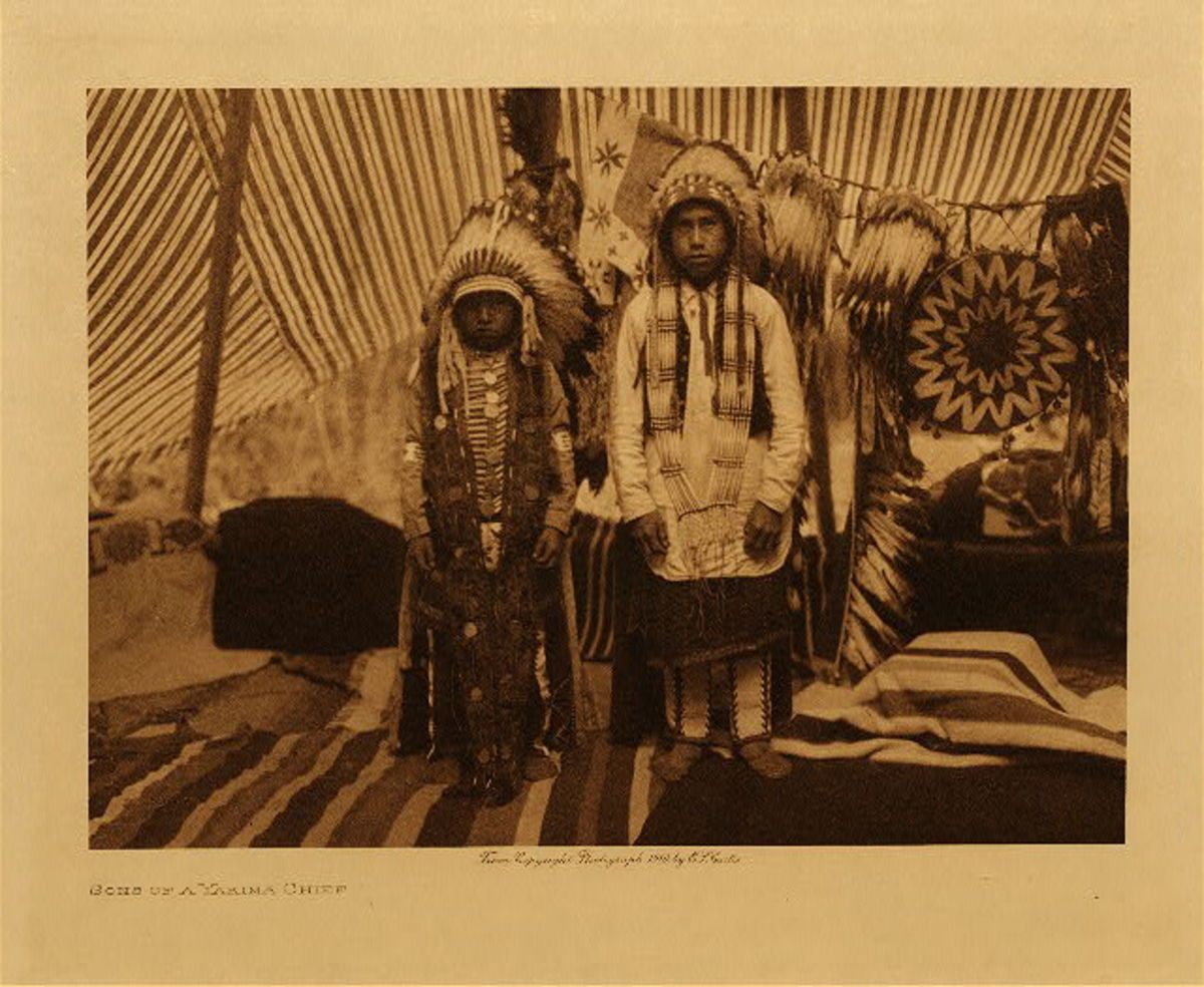 Sons of a Yakima chief, 1910, vol. 7 in The North American Indian by Edward S. Curtis