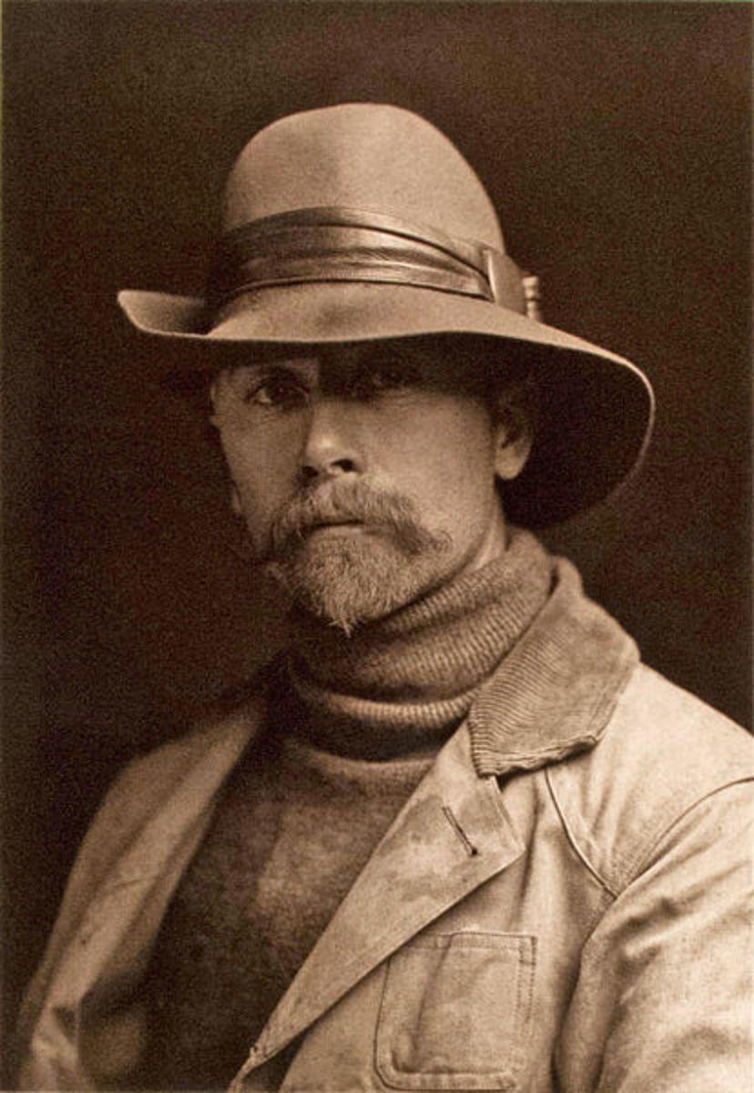 Edward Sheriff Curtis Self-portrait circa 1889.