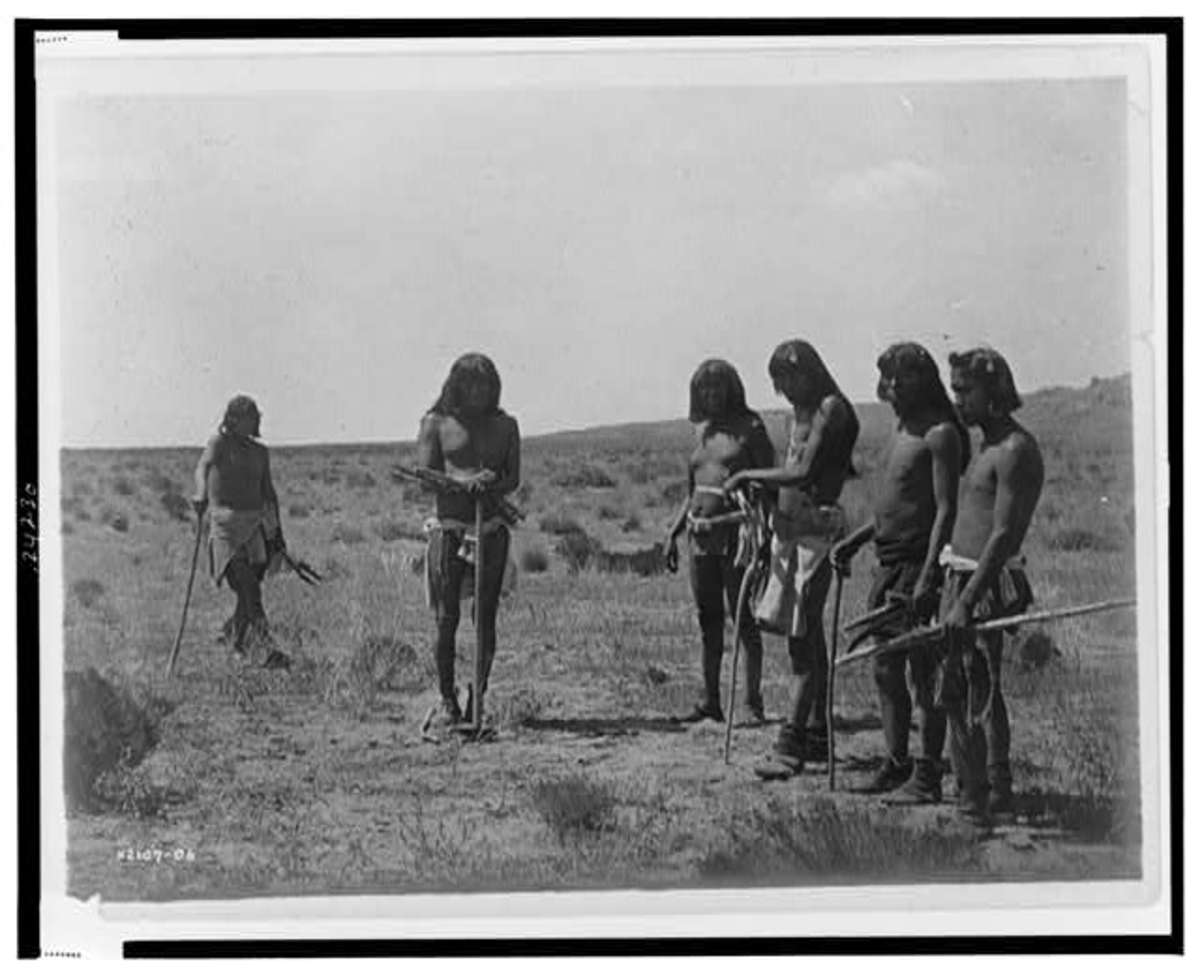 Snake Gathering by Edward S. Curtis c.1907