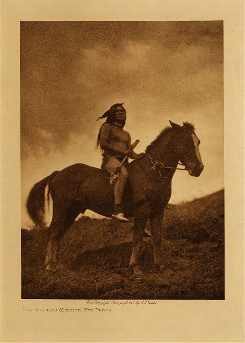 The Old Time Warrior, Nez Perce, 1910, in vol. 8 of The North American Indian by Edward S. Curtis