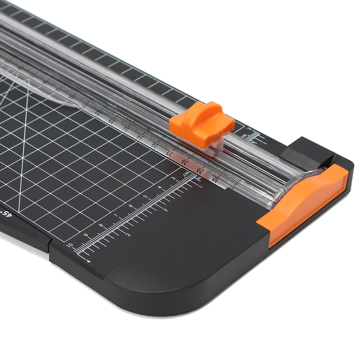 Measure your photo with a ruler. Then decide how big and how many mats that you want for your photo. Use your paper cutter to cut your mats to the exact measurements for your needs.